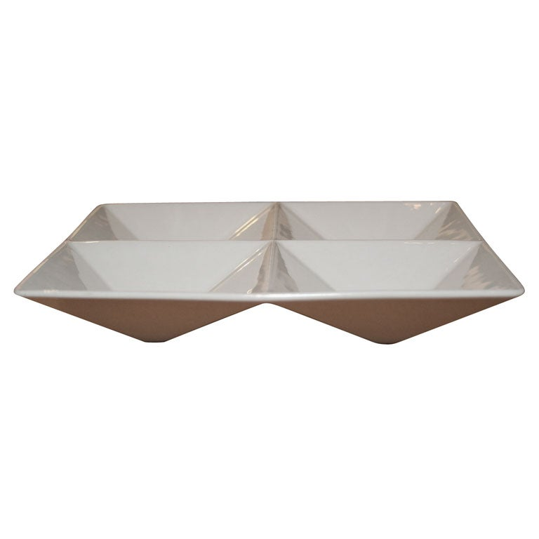 Origami Form Ceramic Tray by Kaj Franck for Arabia