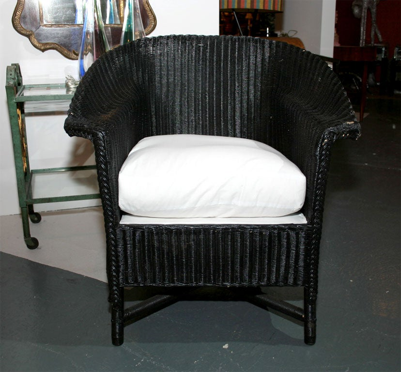 lloyd loom chairs at 1stdibs. Black Bedroom Furniture Sets. Home Design Ideas