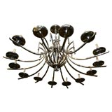 Large Nickel-Plated Chandelier