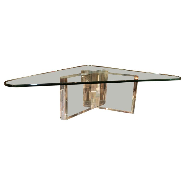 Leon Frost Lucite Coffee Table At 1stdibs