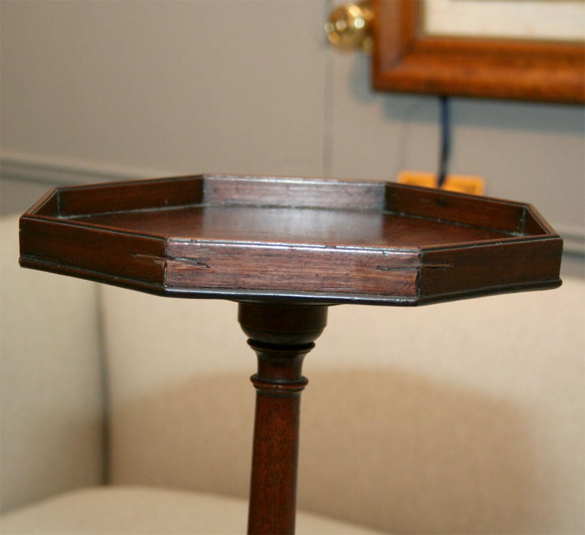 Mahogany Candlestick Stand with Octagonal Top 4