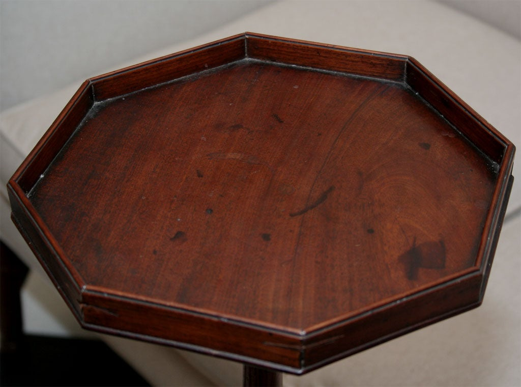 Mahogany Candlestick Stand with Octagonal Top 5
