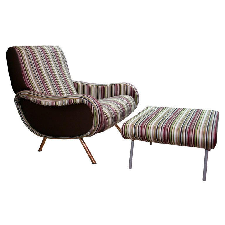 Lady Chair And Ottoman By Marco Zanuso At 1stdibs