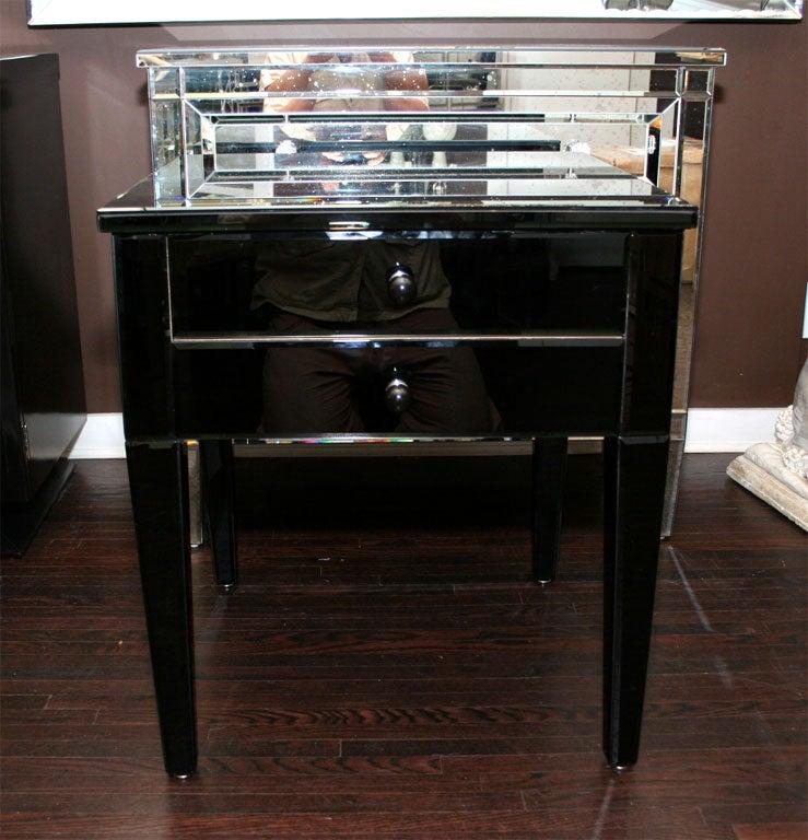 Custom Black Glass Commode At 1stdibs