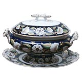 19th C. Ashworth Soup Tureen and Stand/Underplate