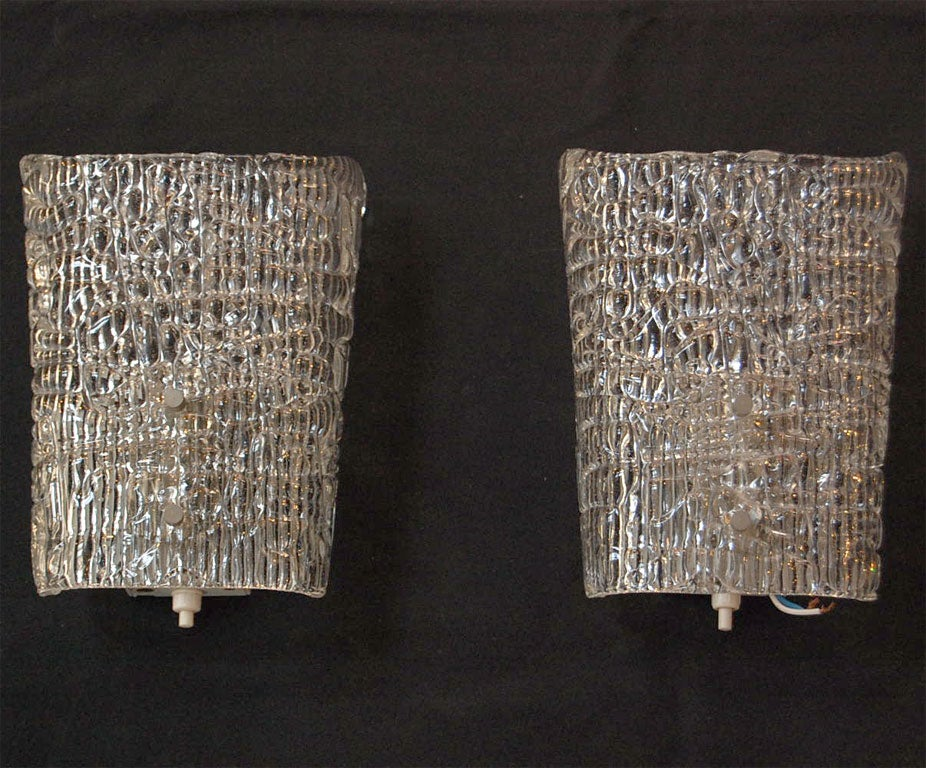 PAIR OF AUSTRIAN CUT GLASS SCONCES at 1stdibs