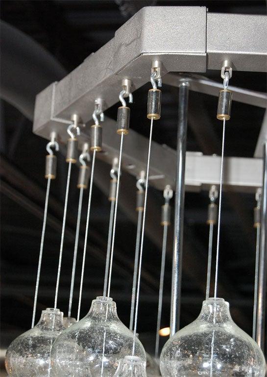 Phenomenal Kalmar Glass Ball Chandelier At 1stdibs