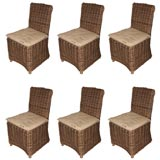 Set of 6 Willow Side Chairs for Indoor or Outdoor Use