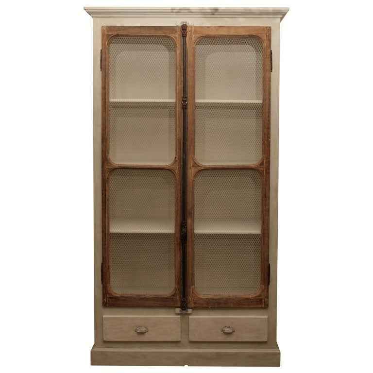 door kitchen cabinets chicken wire display cupboard at 1stdibs 15007