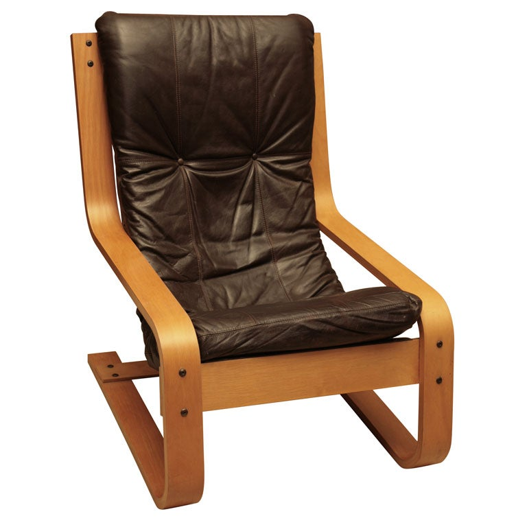 1950s Bent Wood Armchair At 1stdibs