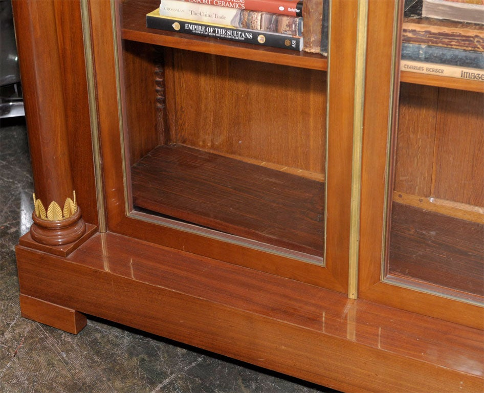 Empire Style Mahogany Bookcase Bibliotheque, French, Late 19th Century For Sale 2