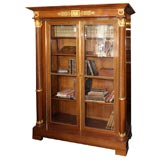 Empire Style French Mahogany Bookcase, French 19th Century