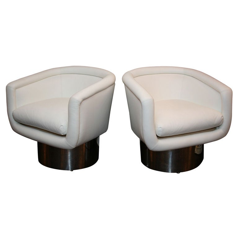 Pair of Leon Rosen For The Pace Collection Swivel Tub