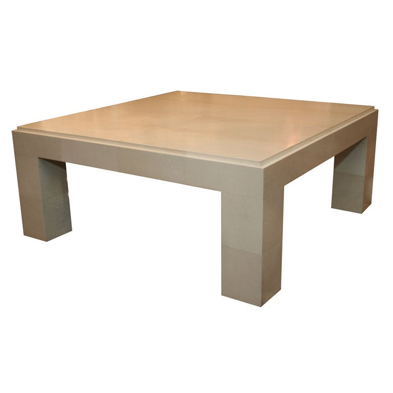 PARSONS STYLE PARCHMENT COFFEE TABLE At 1stdibs
