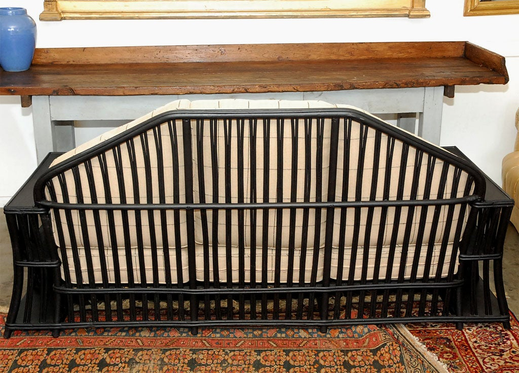 Three seater Wicker Settee For Sale 1