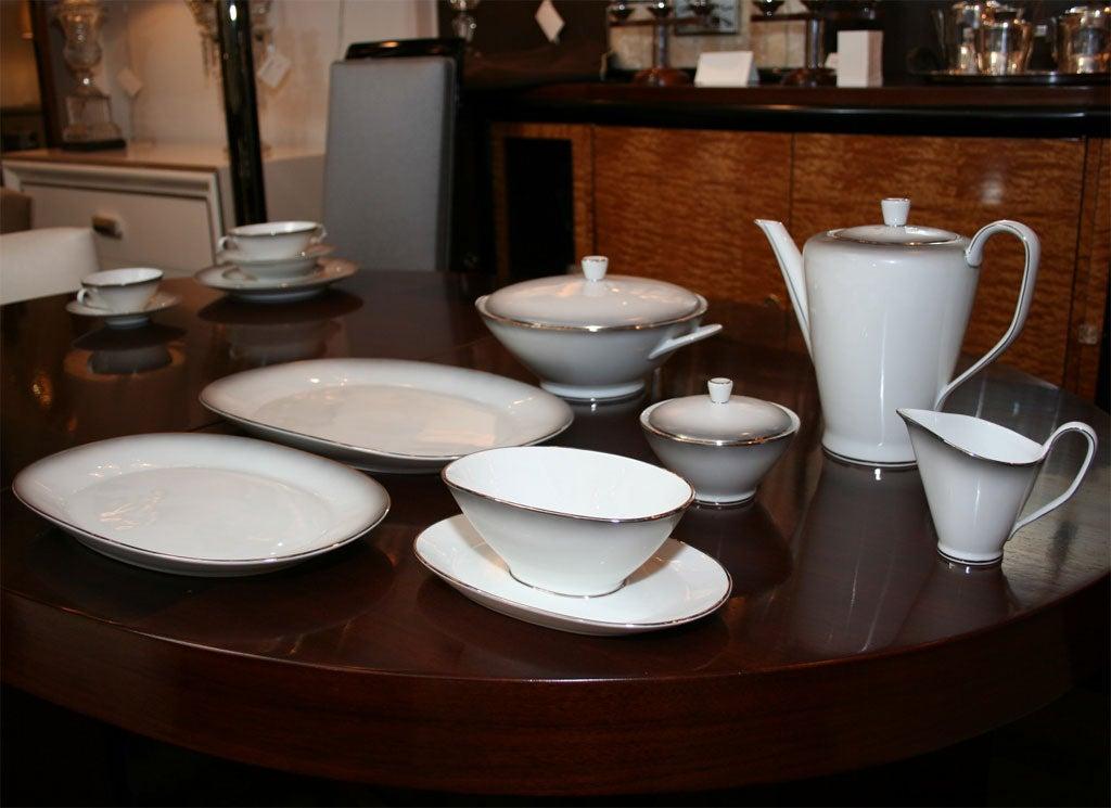modernist rosenthal china service for 12 at 1stdibs. Black Bedroom Furniture Sets. Home Design Ideas