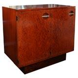Maidou Burled Wood & Mahogany Cabinet  Designed by Gilbert Rohde