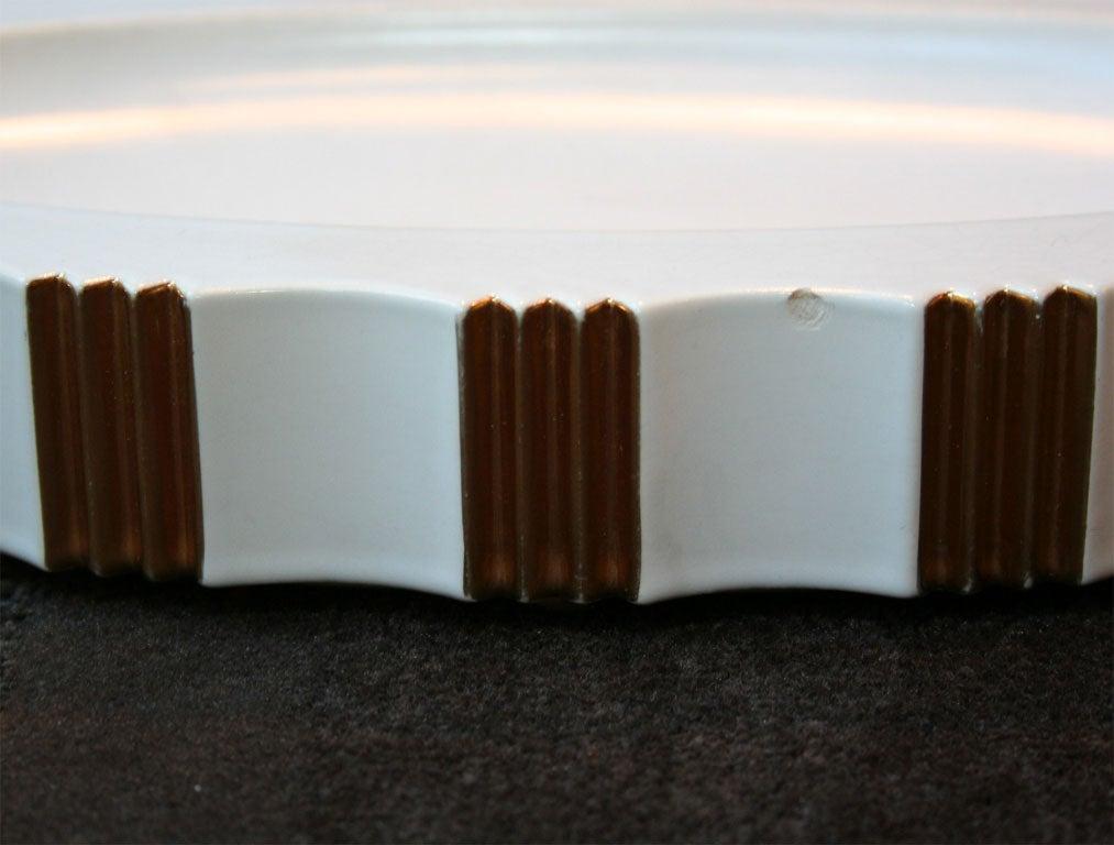 Gold Art Deco Three-Piece Ceramic Center Piece Set by ROBJ, Paris For Sale