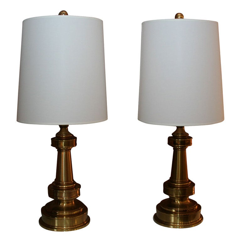1960s Stiffel Brass Lamps At 1stdibs