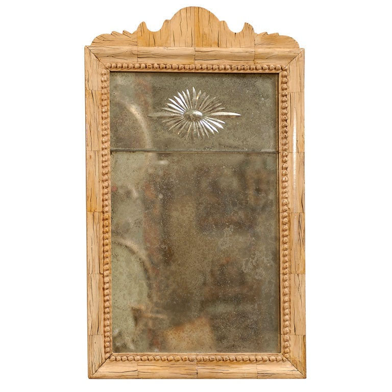 Queen Anne Style Mirror With Etched Star At 1stdibs