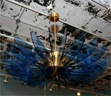 Crystal and Brass Hanging Fixture by Fontana Arte image 5