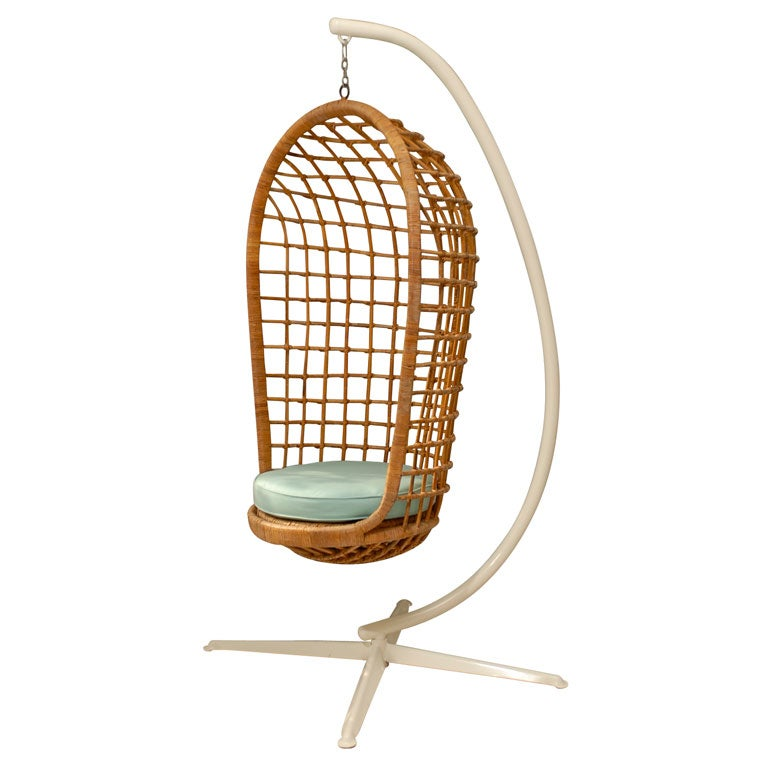 Hanging Rattan Chair At 1stdibs