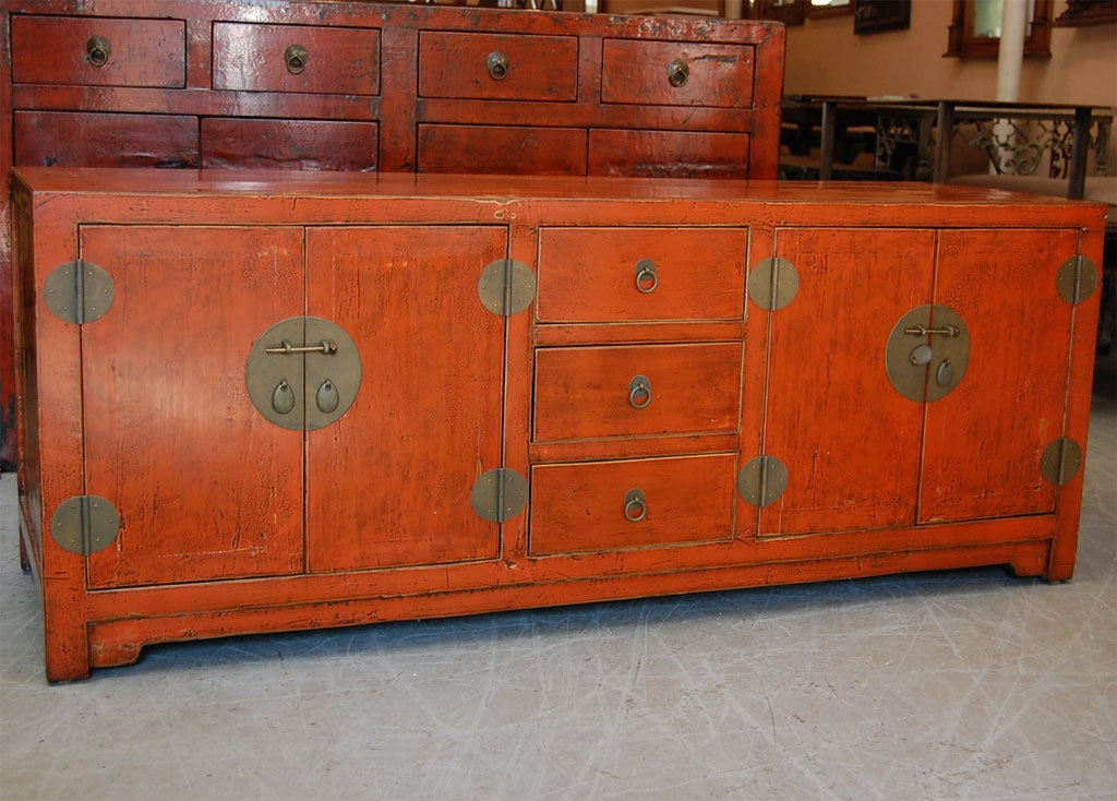 Low Profile Buffet ~ Sienna lacquer low profile console cabinet at stdibs