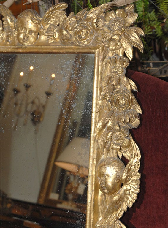 Italian baroque style mirror at 1stdibs for Small baroque mirror