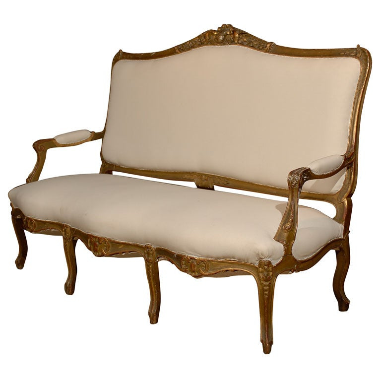 19th century louis xv canape at 1stdibs. Black Bedroom Furniture Sets. Home Design Ideas