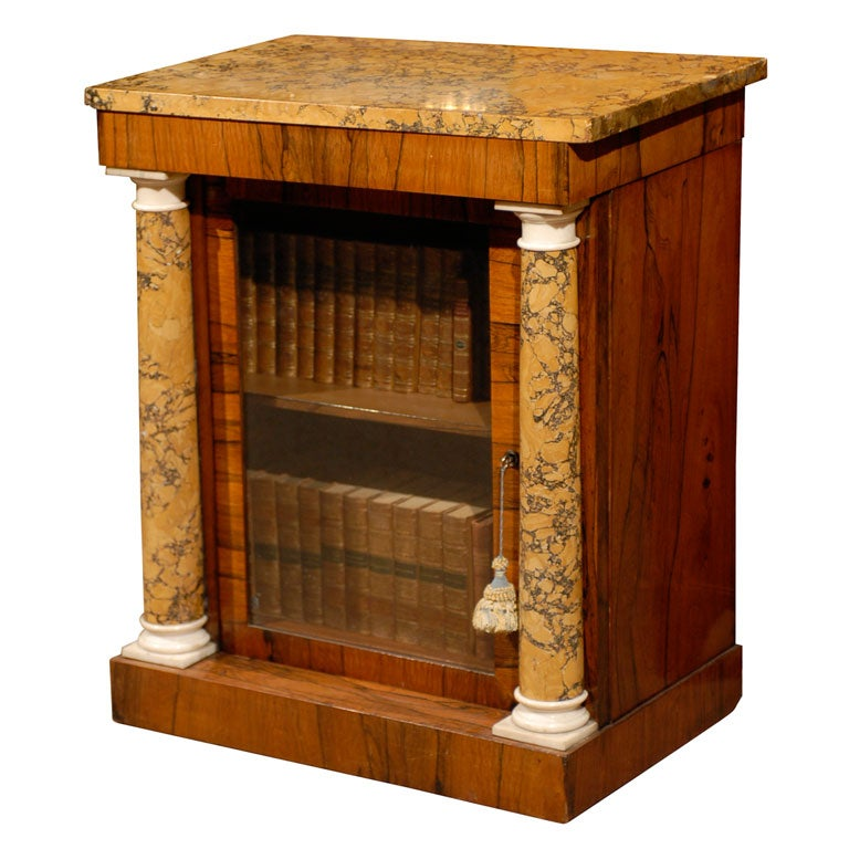 Regency Side Cabinet in Rosewood with Scagliola Top ca. 1810-20