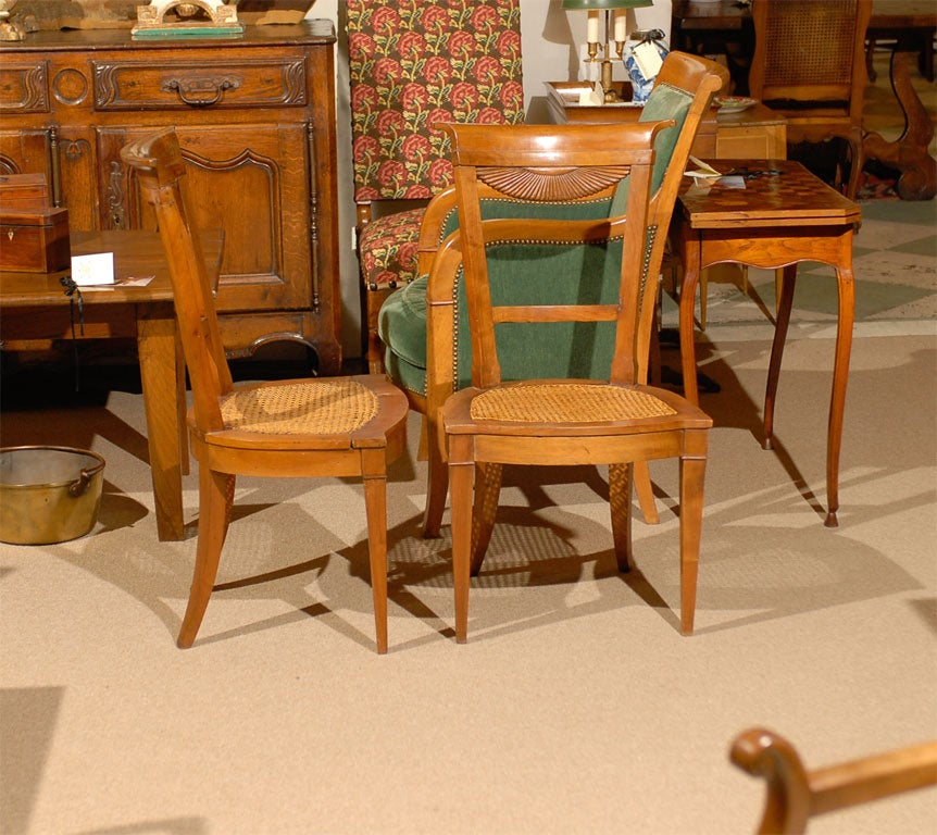 fine set of 6 directoire period dining chairs france ca 1795 image 8