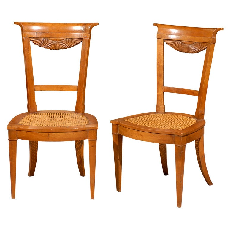 Fine Set Of 6 Directoire Period Dining Chairs France Ca