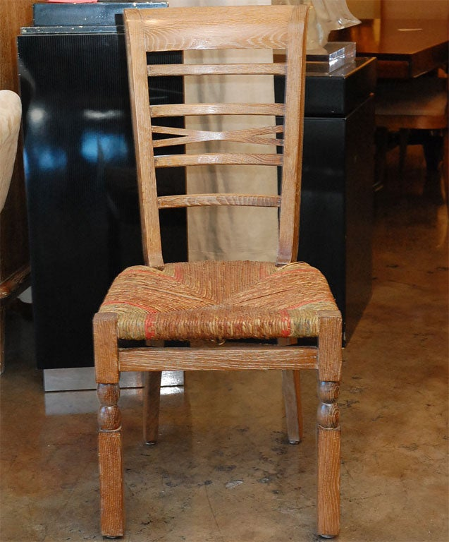 French Provincial Set of Six French 1940s Dining Room Chairs For Sale