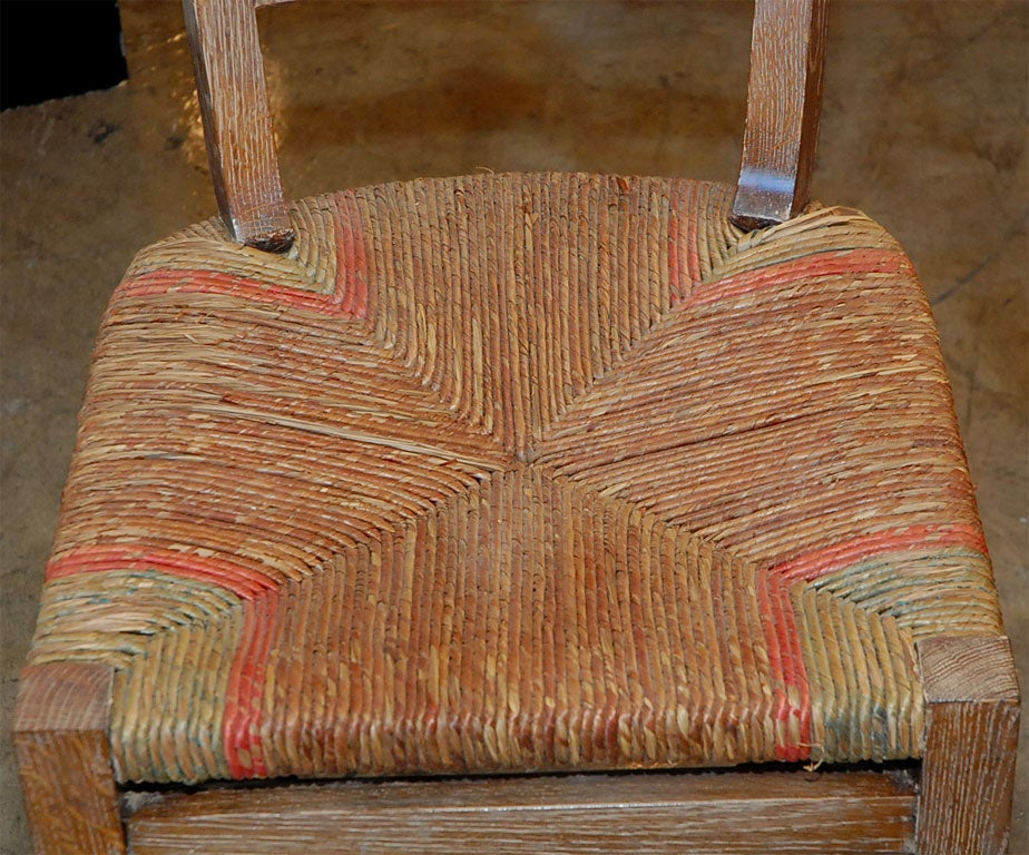 Set of Six French 1940s Dining Room Chairs In Good Condition For Sale In Los Angeles, CA