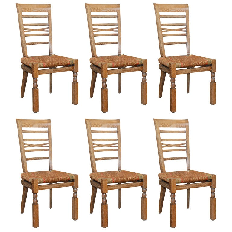 Set Of Six French 1940S Dining Room Chairs at 1stdibs