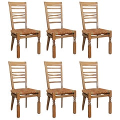Set of Six French 1940s Dining Room Chairs