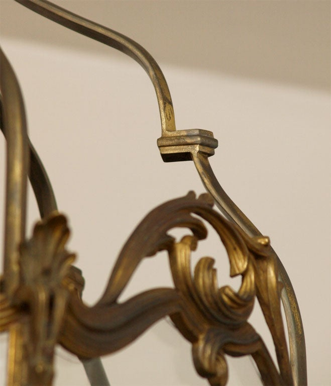 Fine Bronze Louis XV Lantern  3