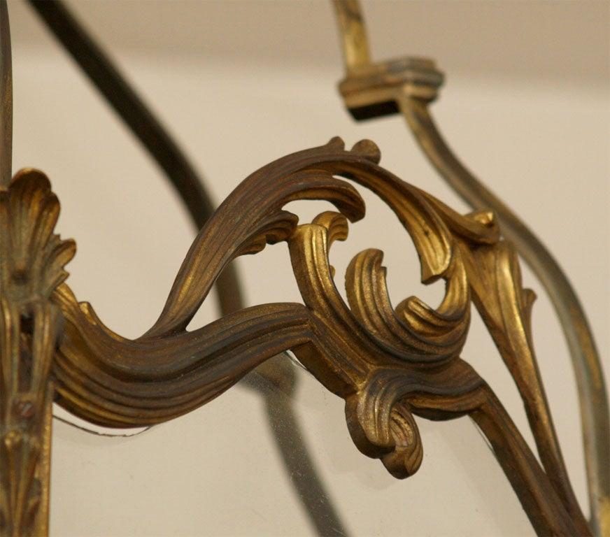 Fine Bronze Louis XV Lantern  4
