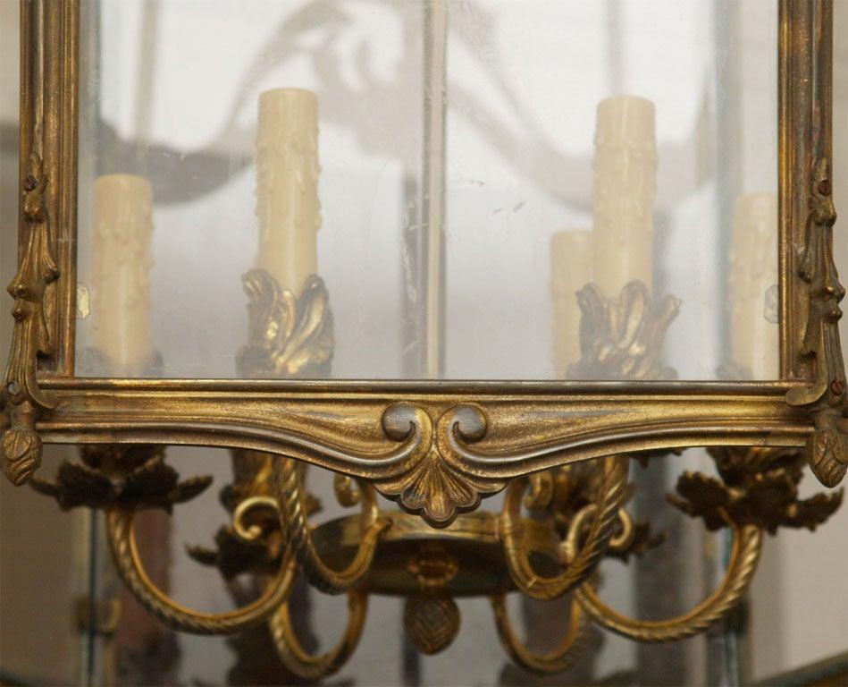 Fine Bronze Louis XV Lantern  5