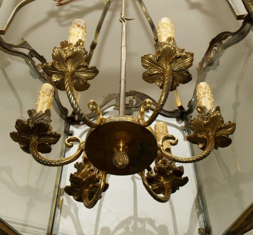 Fine Bronze Louis XV Lantern  6