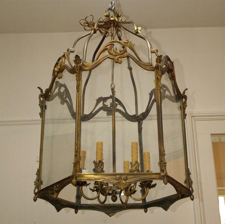 Fine Bronze Louis XV Lantern  10