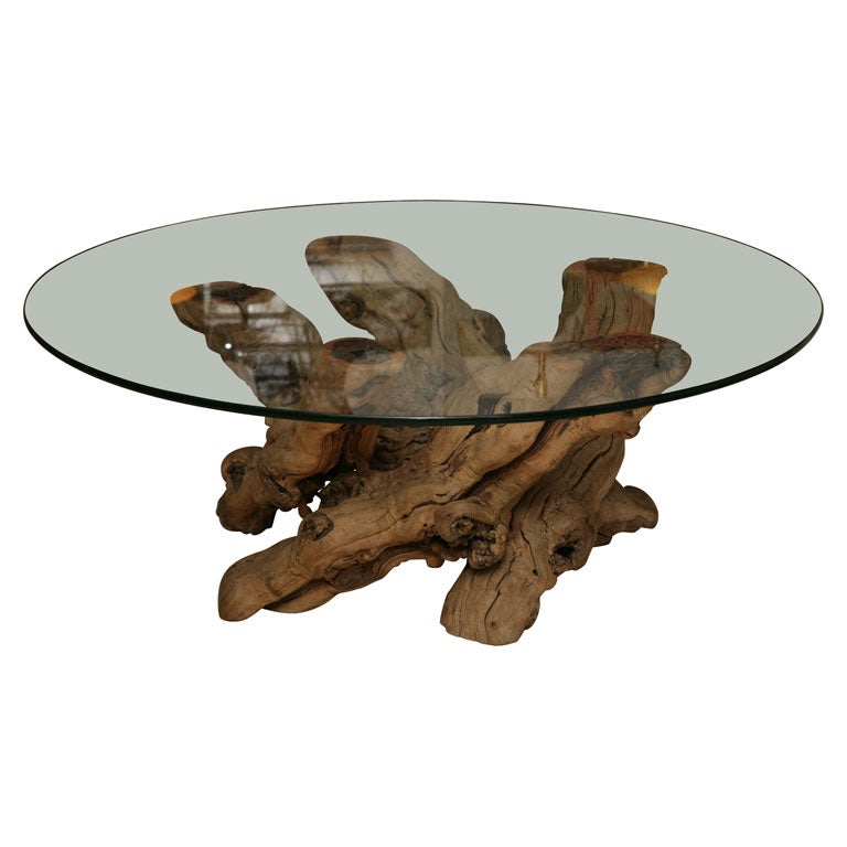 Coffee Table Made From Driftwood: Vintage Driftwood Coffee Table At 1stdibs