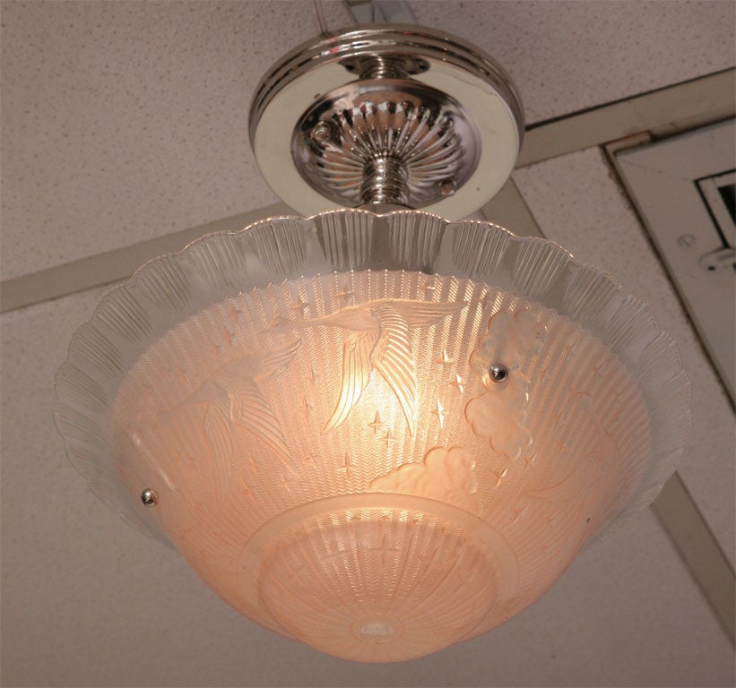 French SALE! SALE !  stunning  PINK CEILING PENDANT For Sale