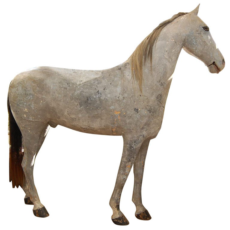 Life Sized Papier Mache Horse At 1stdibs