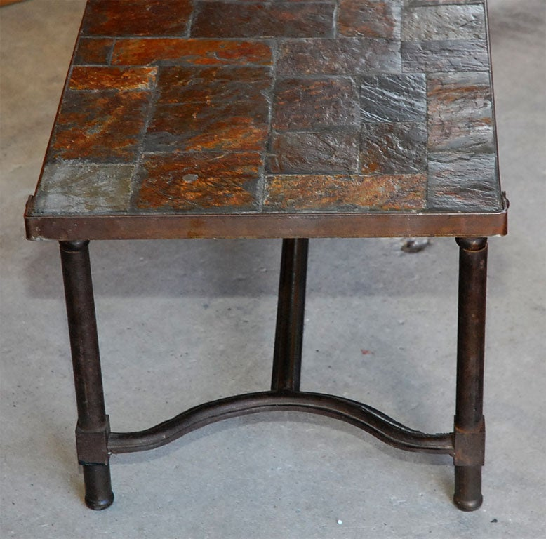 Jacques adnet slate top coffee table for sale at 1stdibs Slate top coffee tables