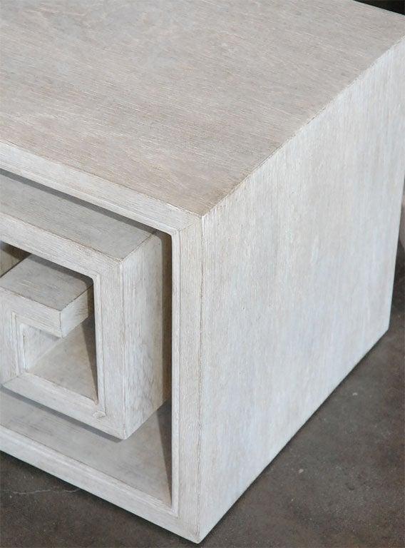 Paul Marra Solid Oak Greek Key Table/Bench 5