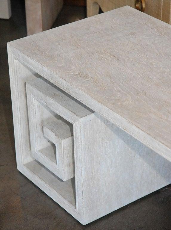 Paul Marra Solid Oak Greek Key Table/Bench 6