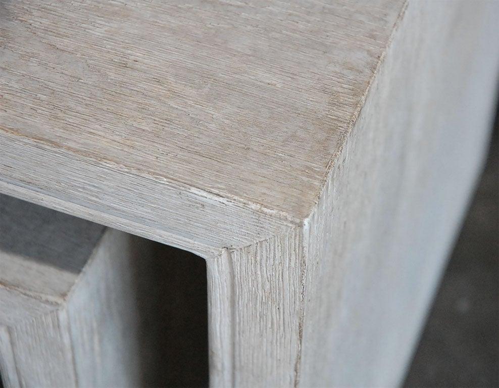 Paul Marra Solid Oak Greek Key Table/Bench 7