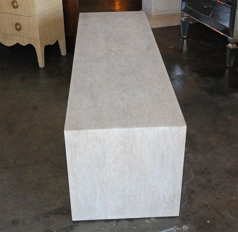 Paul Marra Solid Oak Greek Key Table/Bench 8