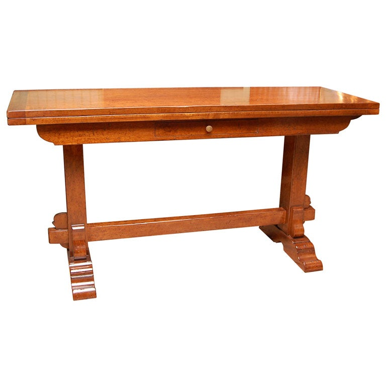 el marangon walnut folding console table at 1stdibs. Black Bedroom Furniture Sets. Home Design Ideas